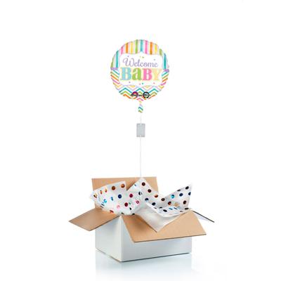 """Ballon surprise de bienvenue à un bébé """"welcome baby""""""""pastel"""