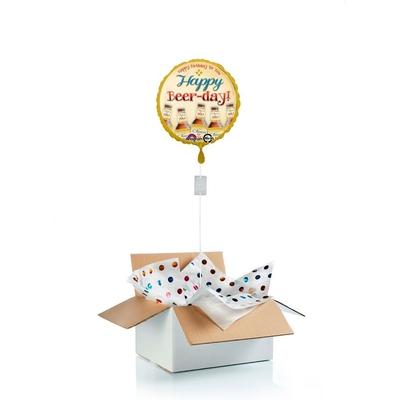 "Ballon surprise d'anniversaire ""Happy Beer Day"""