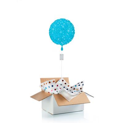 Ballon surprise bleu étincelle