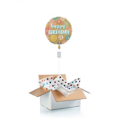 """Ballon surprise d'anniversaire """"happy birthday"""" feu d'artifice"""