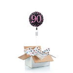 ballon-helium-90-ans-rose