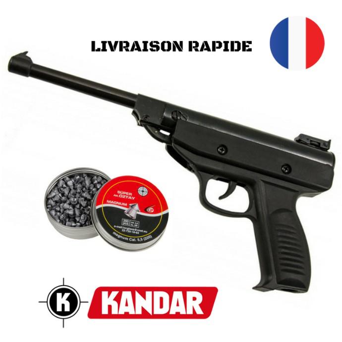carabine pistolet plombs 4 5 mm kandar boite de 200 plombs 990g design allemand top qualite. Black Bedroom Furniture Sets. Home Design Ideas