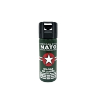 BOMBE LACRYMOGÈNE NATO VERTE 60 ML CS GAZ PUISSANT PRIX MINI