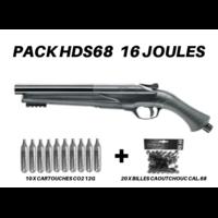 Pack Fusil Umarex® HDS 68 T4E (16 Joules)