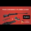 Carabine à air comprimé KANDAR 17 JOULES LB 600 + 200 plombs + housse + lunette 5,5 MM