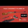PACK Carabine à air comprimé KANDAR 17 JOULES B2-4 + 200 plombs + lunette + housse  5,5 MM !!!
