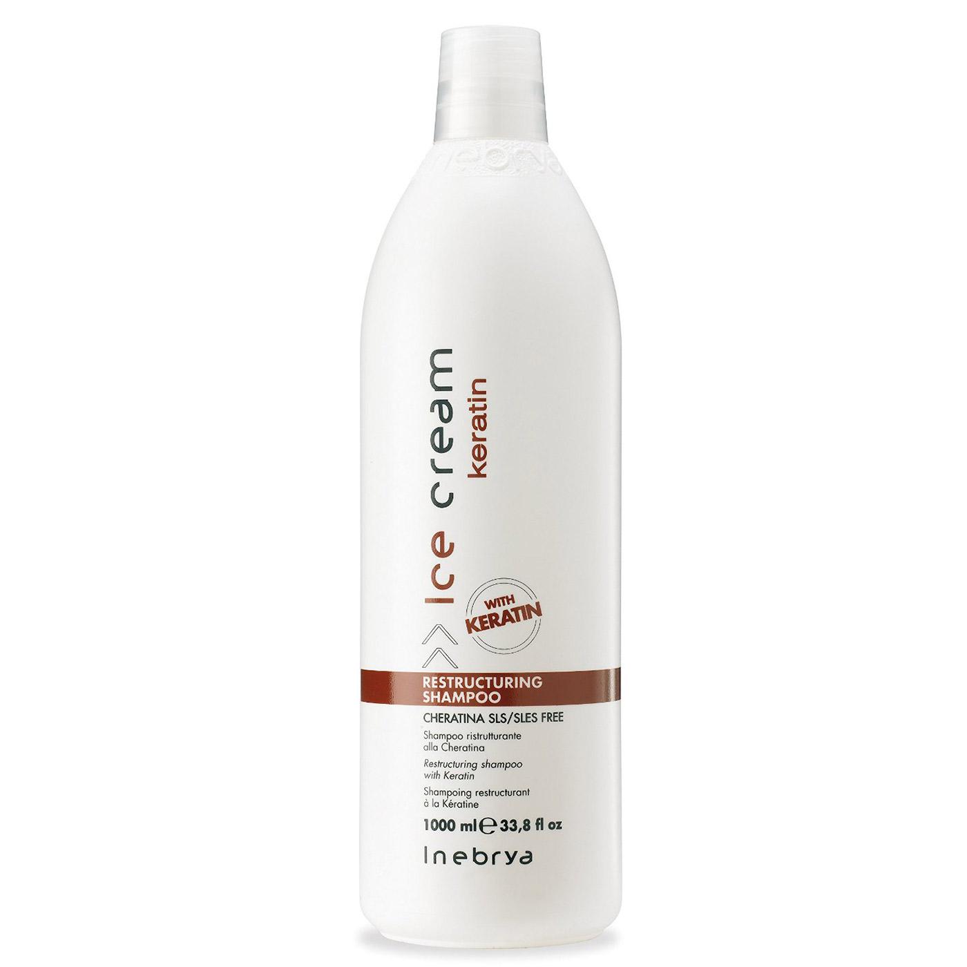 Extrêmement Inebrya - Shampoing Sans Sulfate - à la Kératine - 1000 ml  OG84