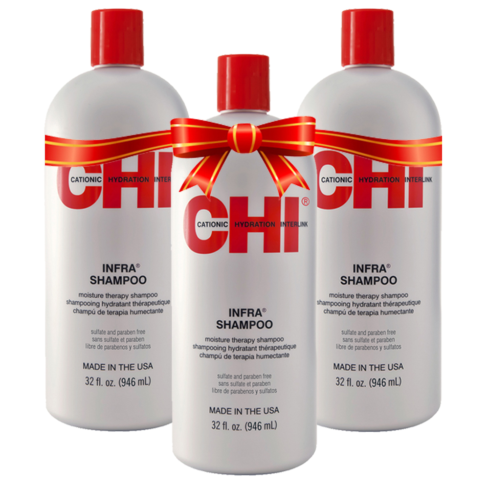 CHI KERATIN - Shampoing Hydratant - Sans parabène/Sans Sulfate - 3 x 946 ml