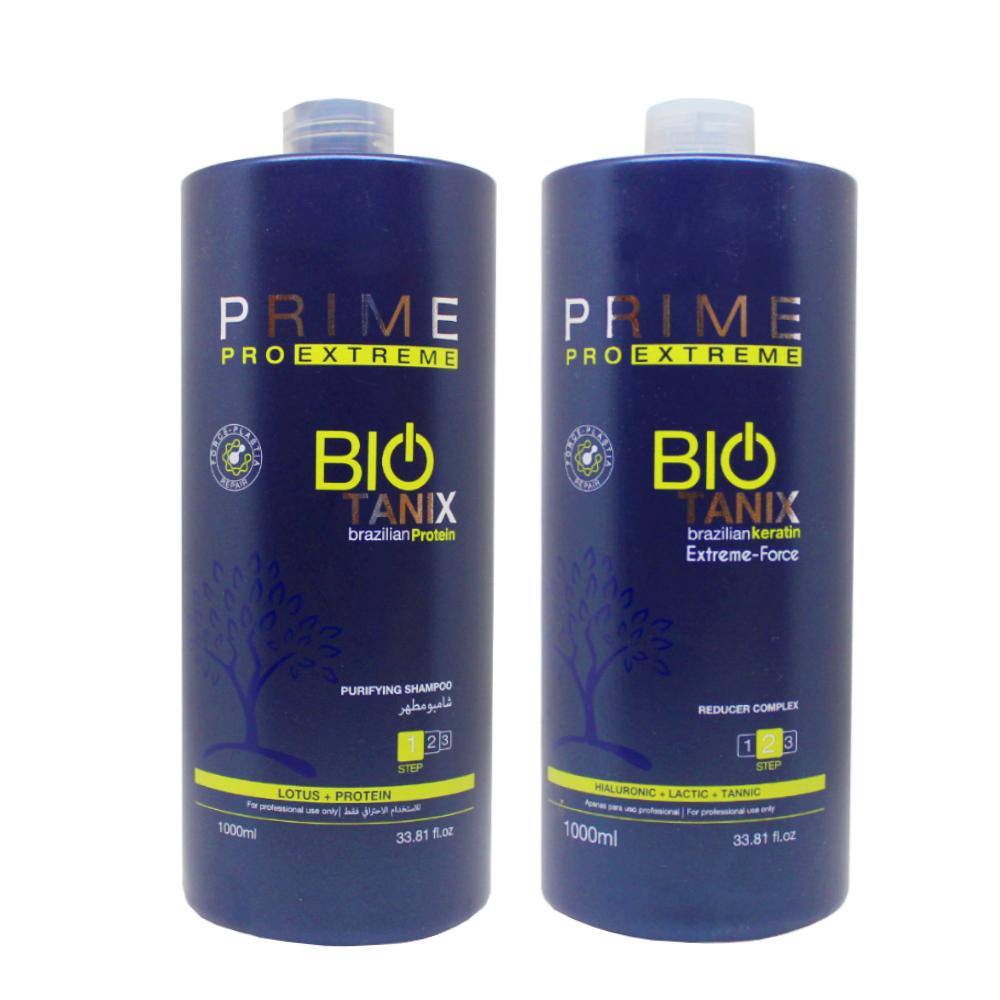 PRIME PRO EXTREME - BIO TANIX - Kit Lissage au Tanin - Taninoplastie - STEP 1 (1000 ml) + STEP 2 (1000 ml)