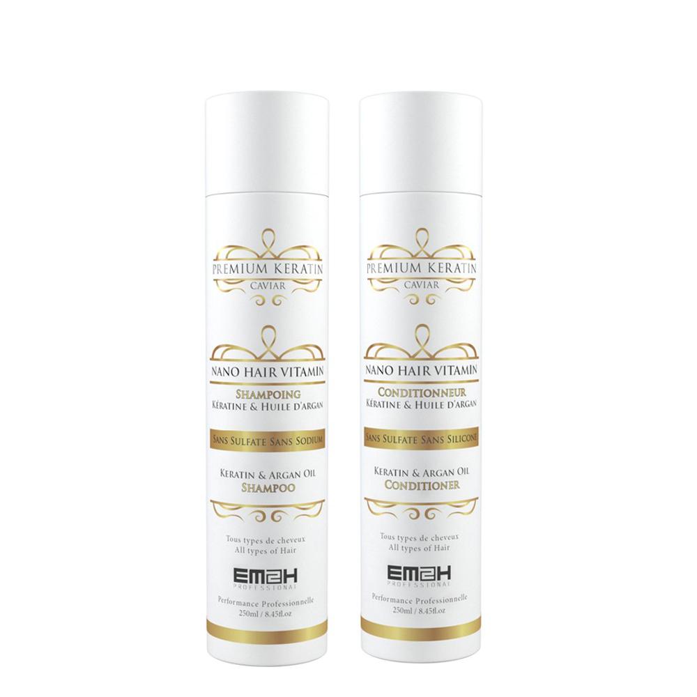 Premium Keratin Caviar - Kit Entretien Lissage Brésilien - Shampoing + Conditionneur
