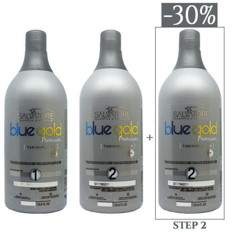 Salvatore Blue Gold Premium - 3 x 1000 ml - 1 x STEP 1 (1000 ml) + 2 x STEP 2 (1000 ml)