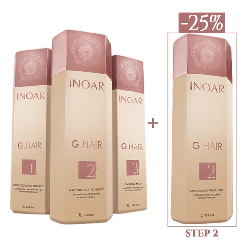 Inoar Ghair - Kit 3 x 1000 ml + STEP 2 (1000 ml)