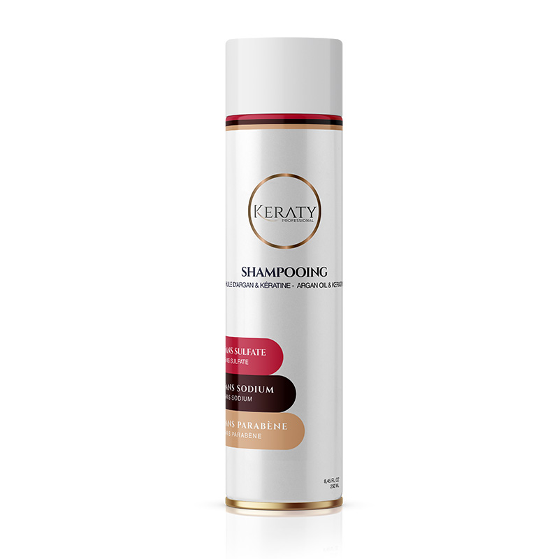 Keraty Professional - Shampoing Entretien Lissage - Sans Sulfate & Sans Parabène - 250 ml