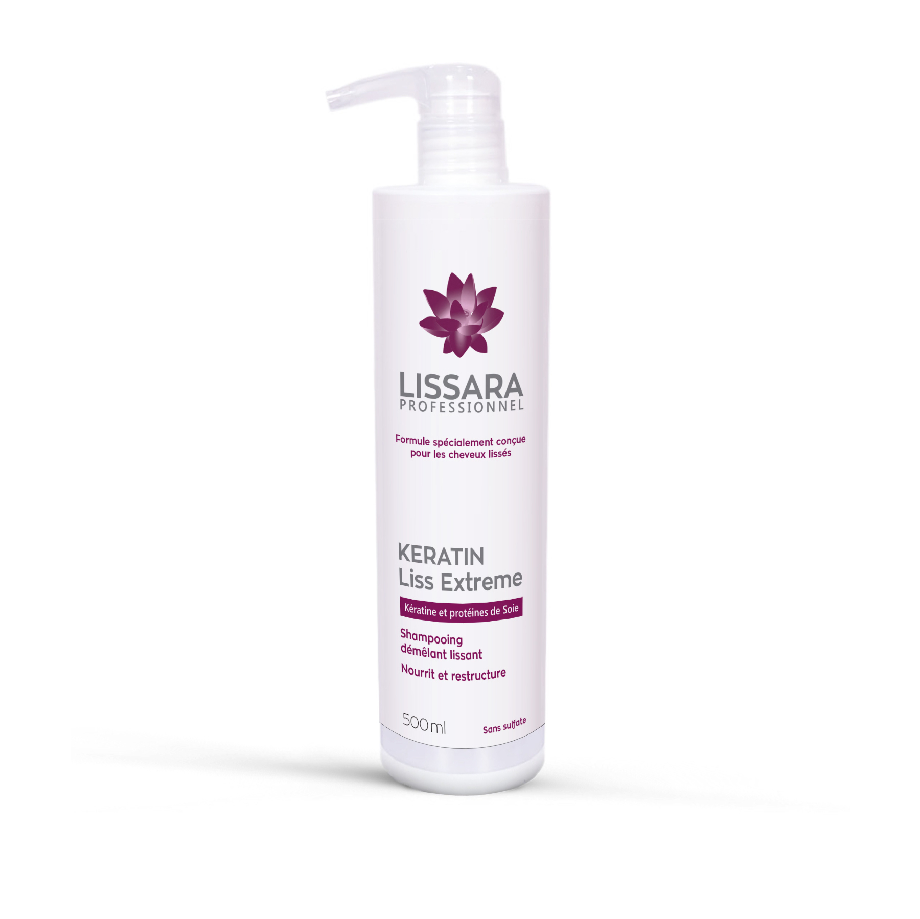 Lissara - Shampoing Entretien Lissage - Sans sulfates - 500ml