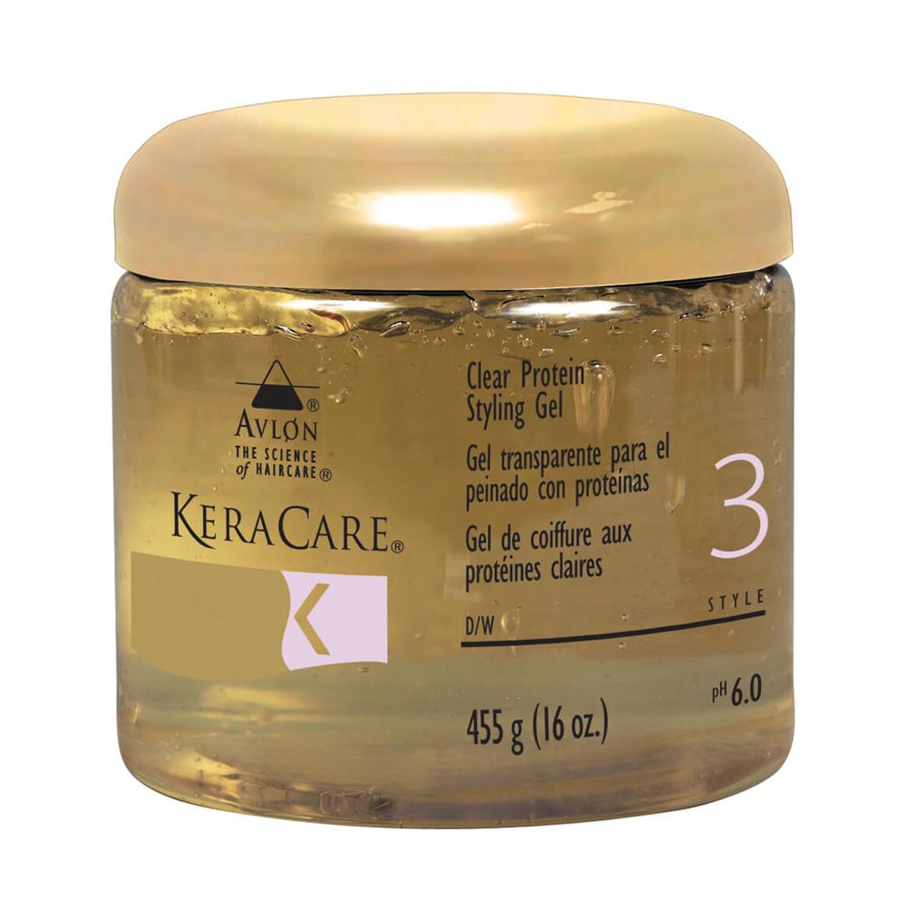 KeraCare - Gel de coiffure aux protéines claires - 455g