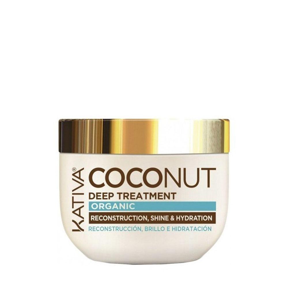 KATIVA - Coconut - Masque Reconstructeur - Brillance et Hydratation - 250ml