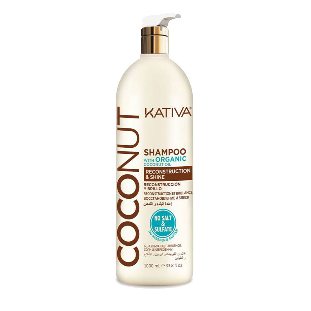 KATIVA - Coconut - Shampoing Reconstructeur et Brillance - 1000ml