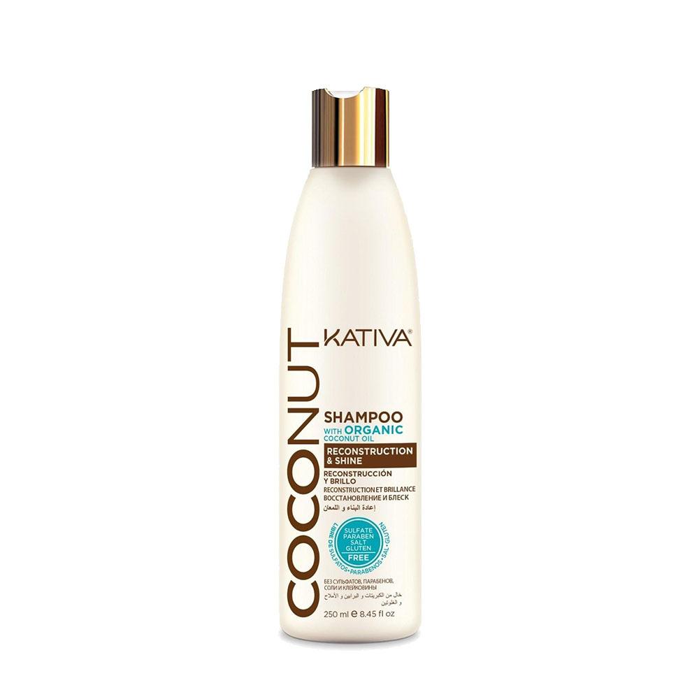 KATIVA - Coconut - Shampoing Reconstructeur et Brillance - 250ml