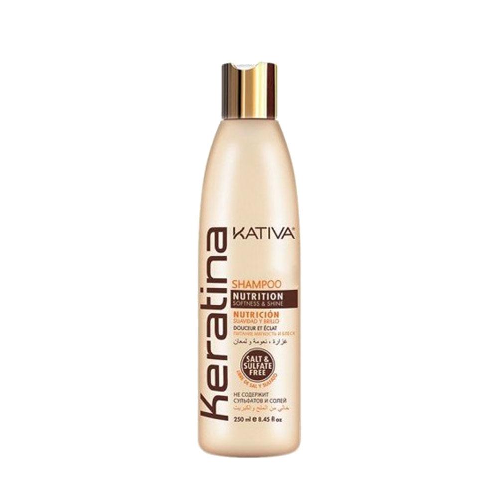 KATIVA - Keratina - Shampoing Nourissant - Souplesse et Brillance - 250ml