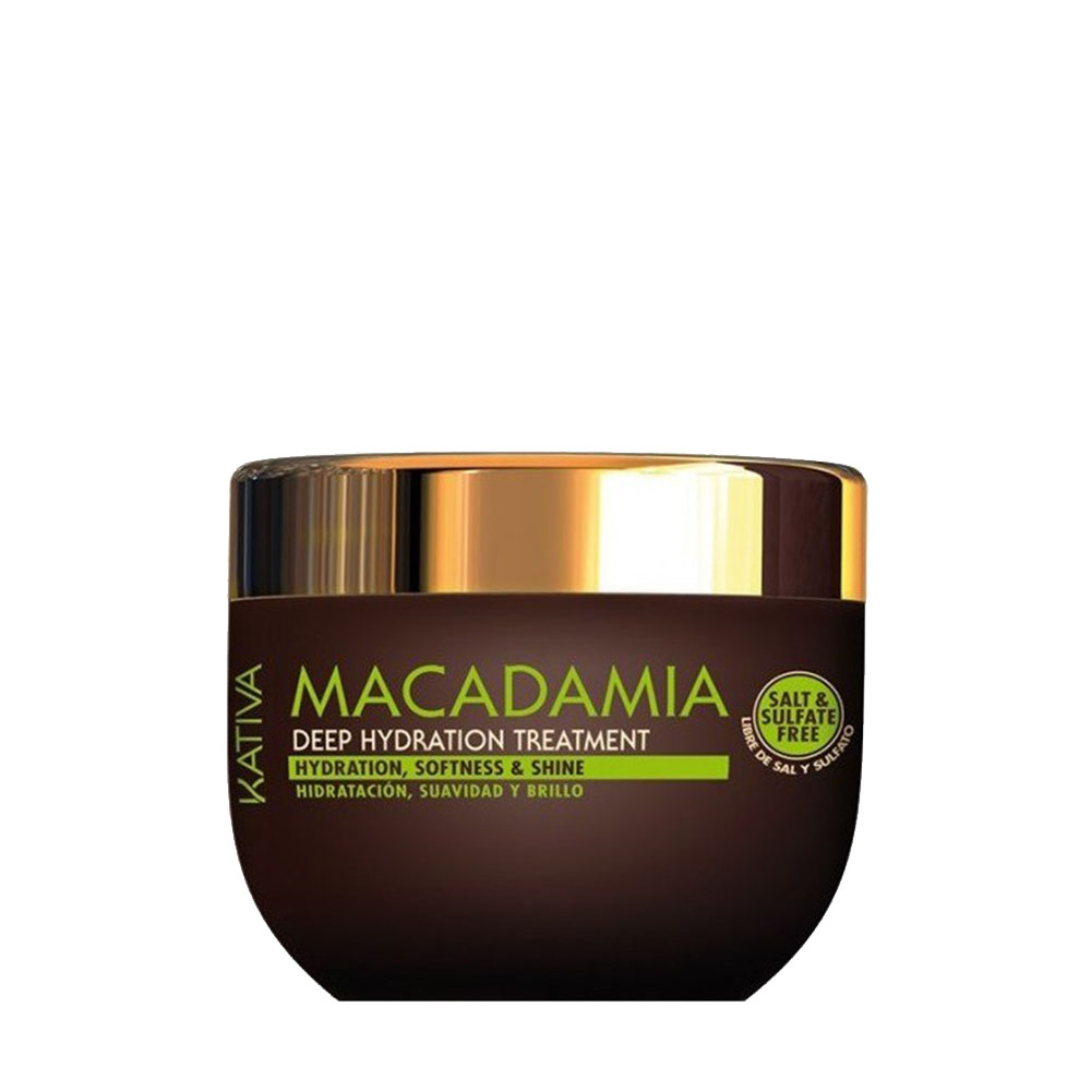 KATIVA - Macadamia - Masque Hydratant - Souplesse et Brillance - 250ml