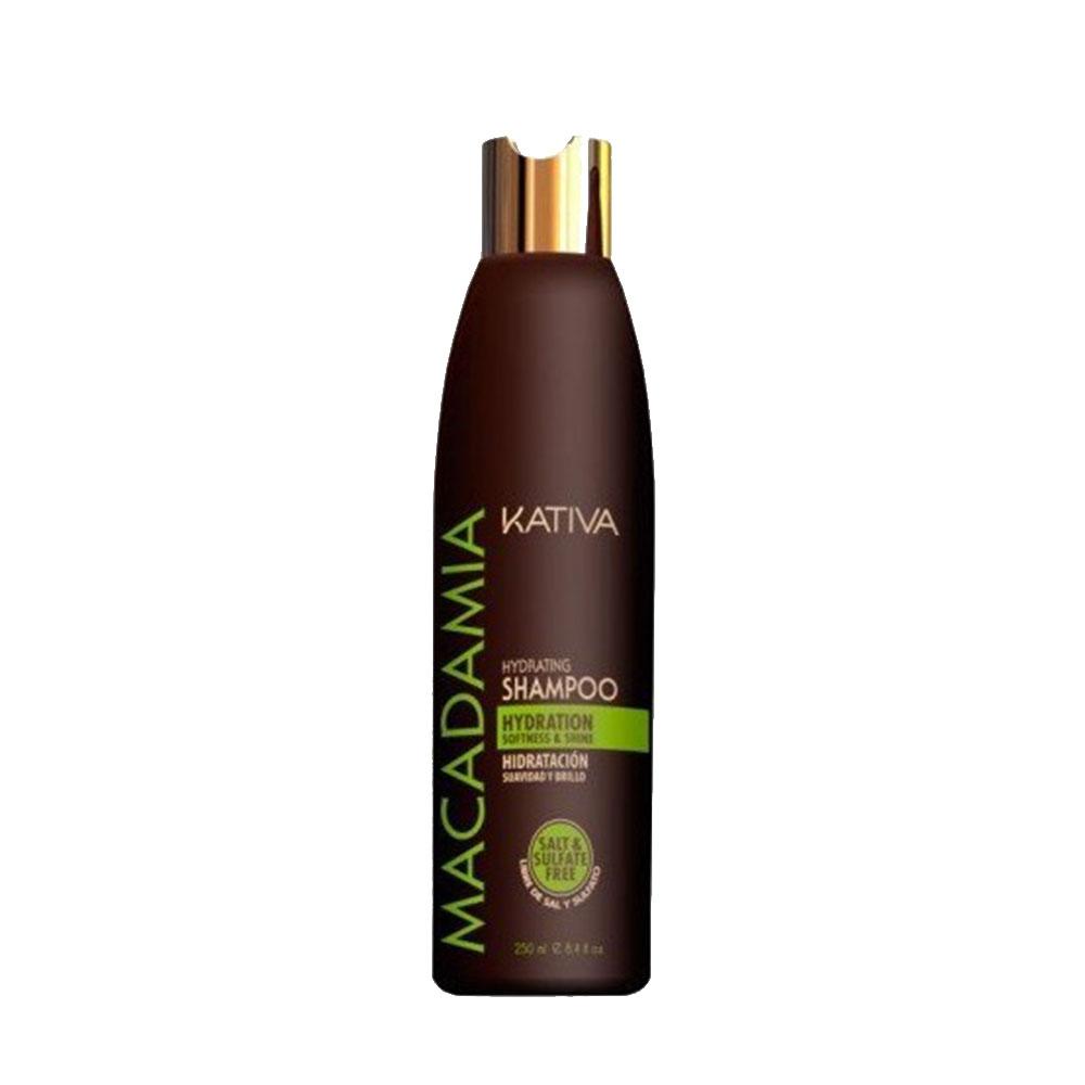 KATIVA - Macadamia - Shampoing Hydratant - Souplesse et Brillance - 250ml