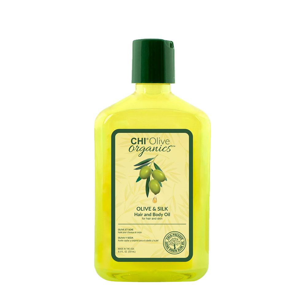 Chi - Olive Organics - Huile pour cheveux et corps - 251ml