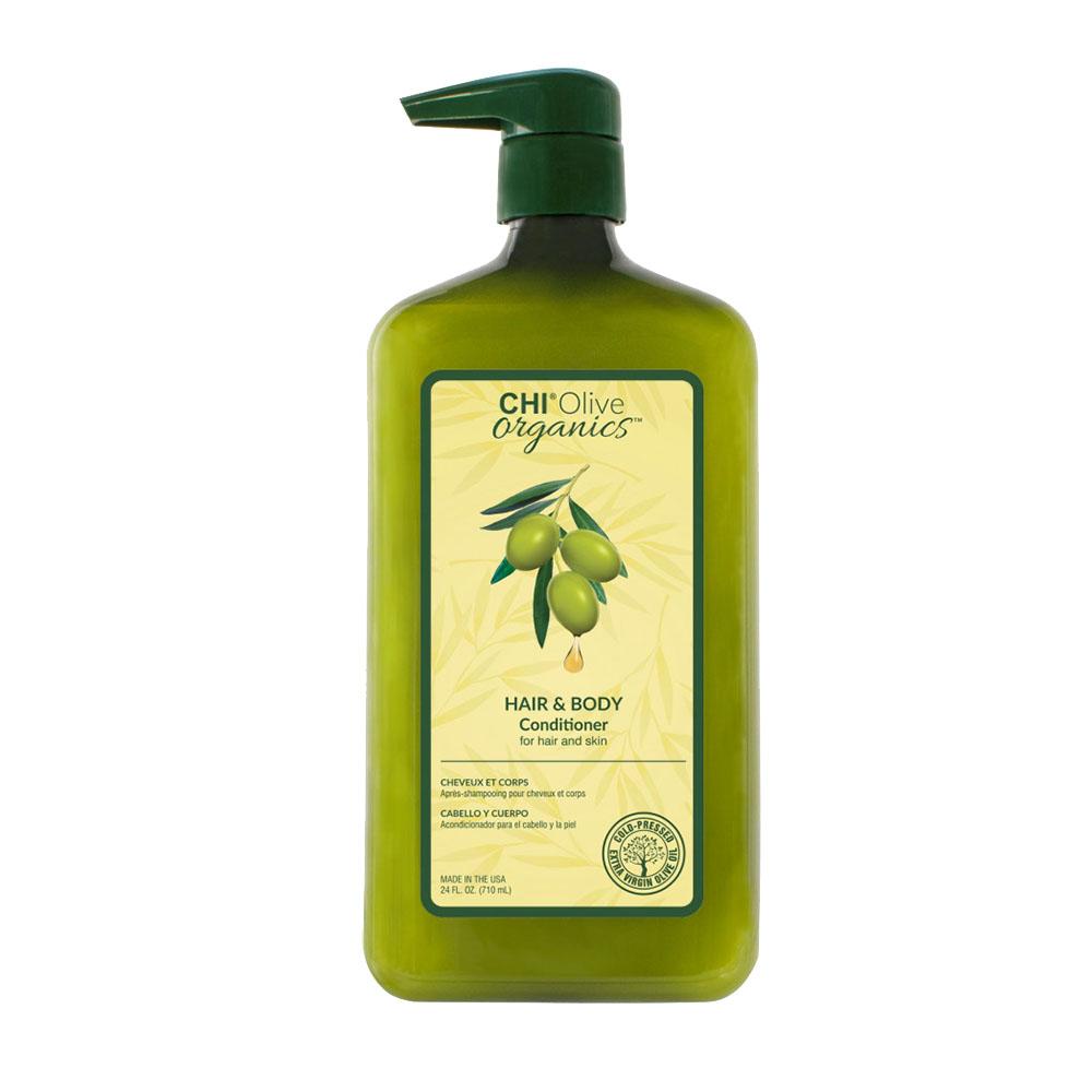 Chi - Olive Organics - Après shampooing pour cheveux et corps - 710ml