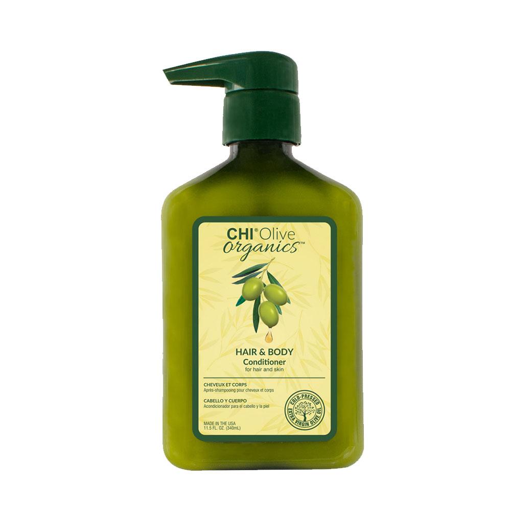 Chi - Olive Organics - Après shampooing pour cheveux et corps - 340ml