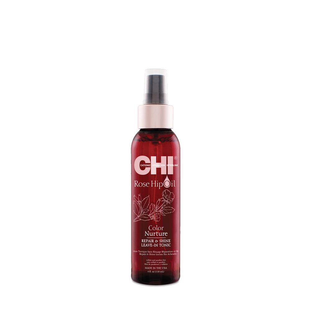Chi - Rose Hip Oil - Lotion tonic sans rinçage réparation et brillance - 118ml