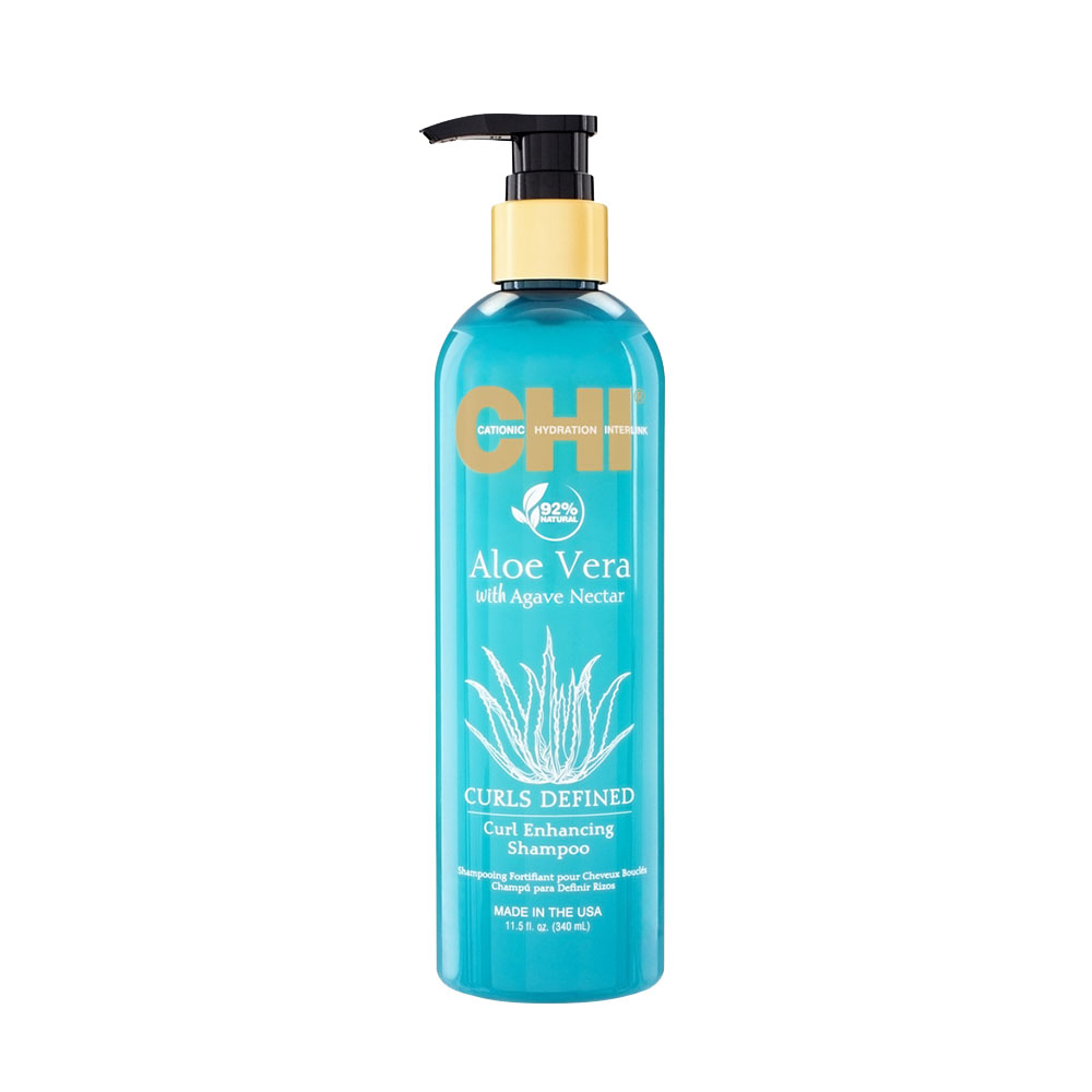 Chi - Aloe vera - Shampooing fortifiant pour cheveux bouclés - 340ml