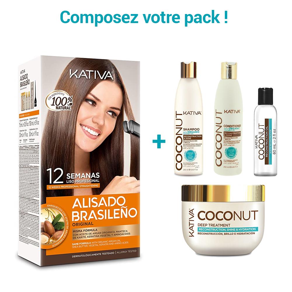 Kativa - Pack de Lissage Brésilien + Entretien Lissage - Coconut