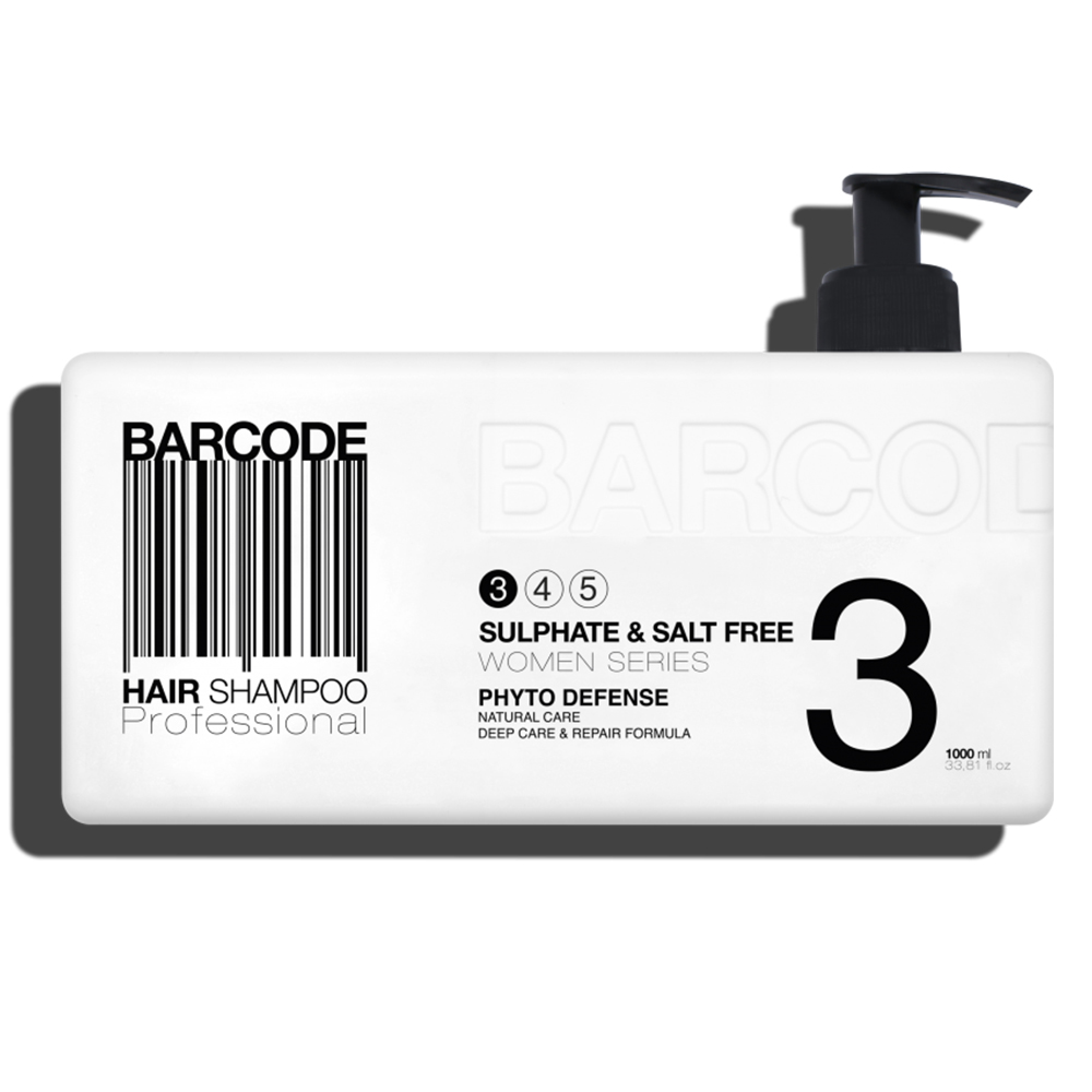 Barcode - Shampoing - Sans sulfate - Sans sel - 1000 ml