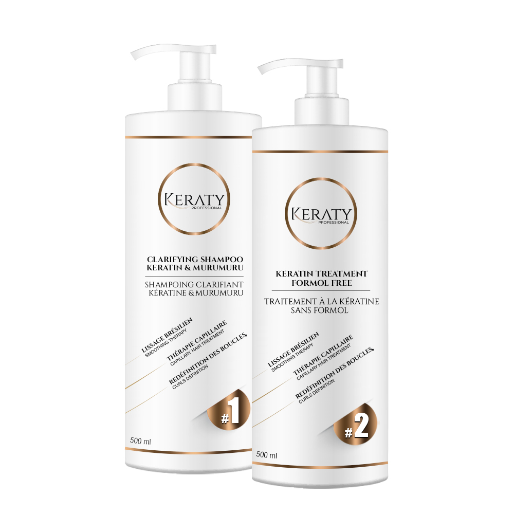 Keraty Professional - Kit de Lissage Brésilien - 2 x 500 ml - 5 à 8 applications
