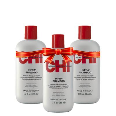 CHI KERATIN - Shampoing Hydratant - Sans parabène/Sans Sulfate - 3 x 355 ml