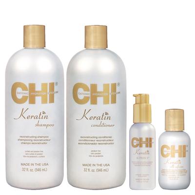 CHI Keratin - Kit Entretien Lissage + 2 Soins enrichi à la Kératine