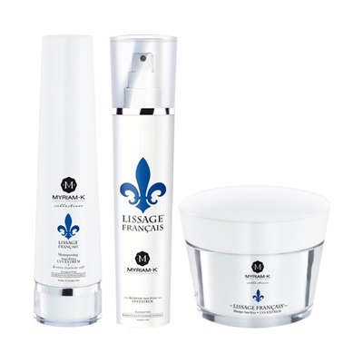 Lissage Français - Pack Lys Extrem - Shampoing + Masque + Spray Bi-phase - Myriam K