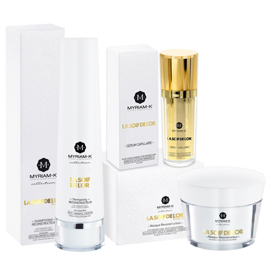 "Pack ""La SoiF de l'Or"" - Shampoing + Masque + Sérum - Myriam K"