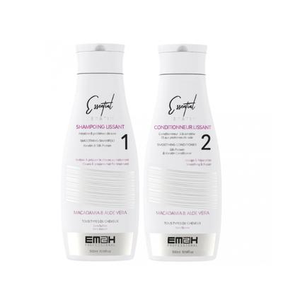 Essential Keratin - Kit Entretien Lissage Brésilien - Shampoing + Conditionneur