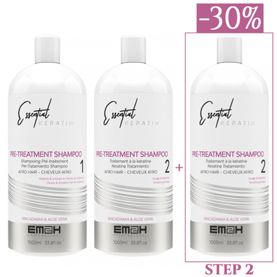 Essential Keratin - Kit Lissage - 3 x 1000 ml - 1 x STEP 1 (1000 ml) + 2 x STEP 2 (1000 ml)
