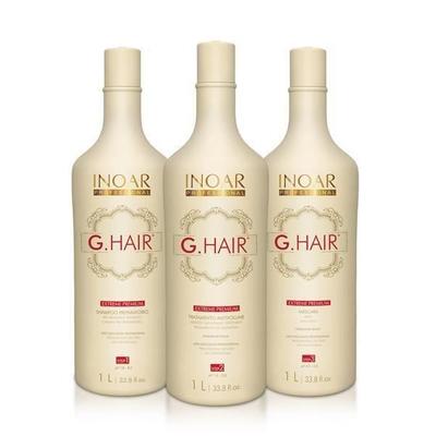 Inoar Extrême Ghair Premium - Kit Lissage Brésilien - 3 x 1000 ml
