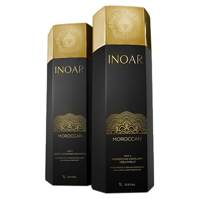 Inoar Marroquino - Kit Lissage Brésilien - 2 x 1000 ml