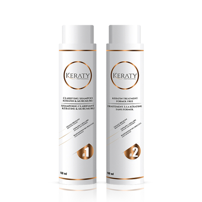 Keraty Professional - Kit de Lissage Brésilien - 2 x 150ml - 2 à 3 applications