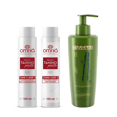 Omnia Professional - Lissage au Tanin - Kit 2 x 100 ml + 1 Shampoing Sans Sulfate 250 ml