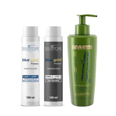 Salvatore Blue Premium - Kit 2 x 100 ml + 1 Shampoing Sans Sulfate 250 ml