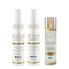 Premium Keratin Caviar - Kit Entretien Lissage Brésilien - Shampoing + Conditionneur + Nano Hair Vitamin Spray Bi-phase