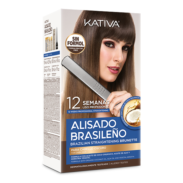 Brunette - Kativa Kit de Lissage - 3 x 150 ml