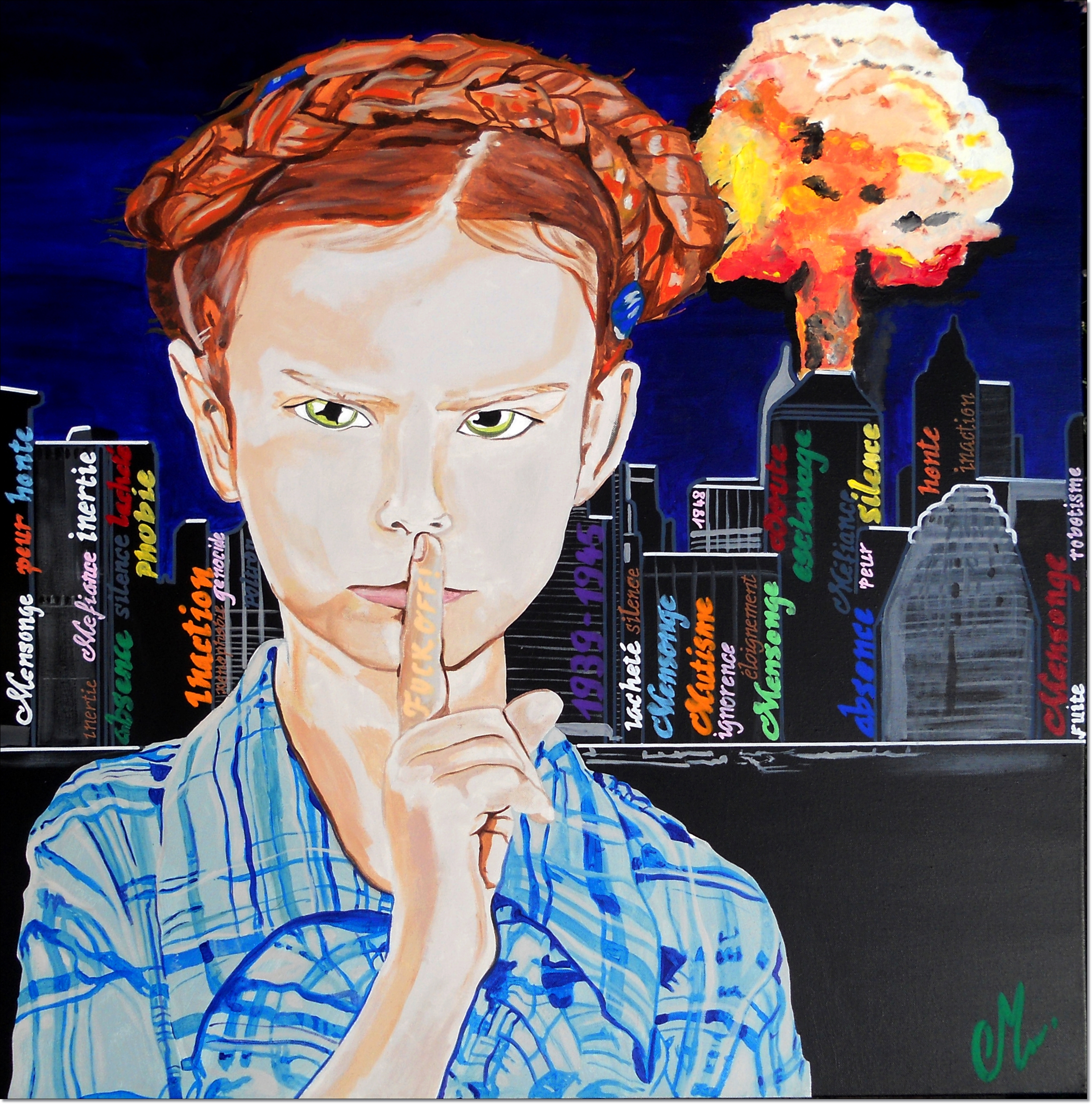Contemporary painting generation disappointed laziness