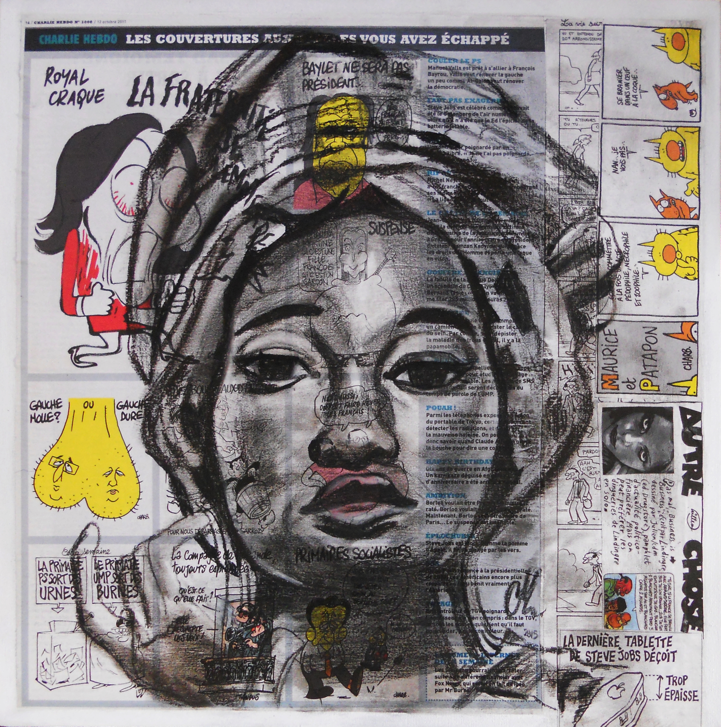 painting ethnic roots africa, African woman.