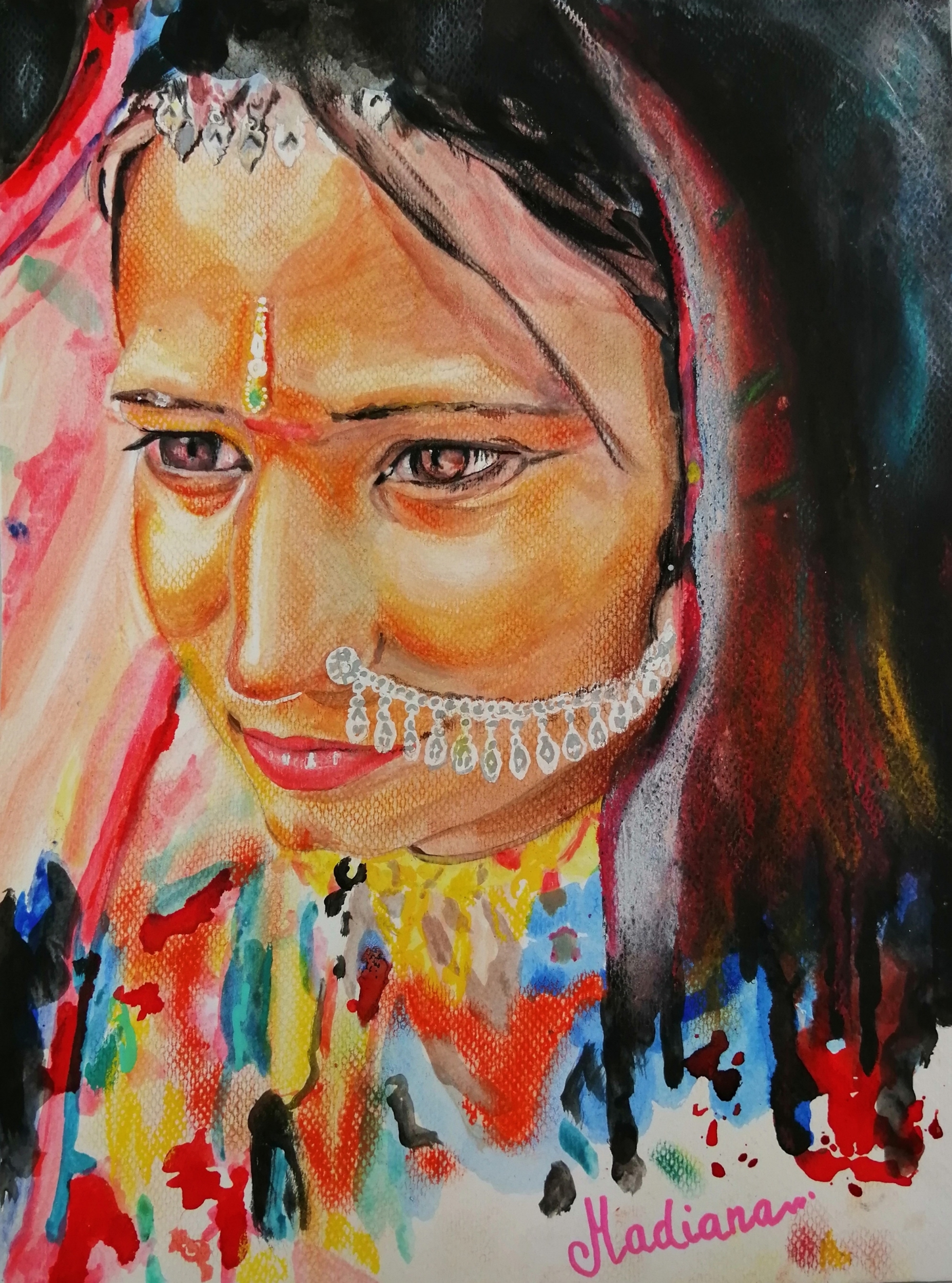 Indian woman reproduction poster