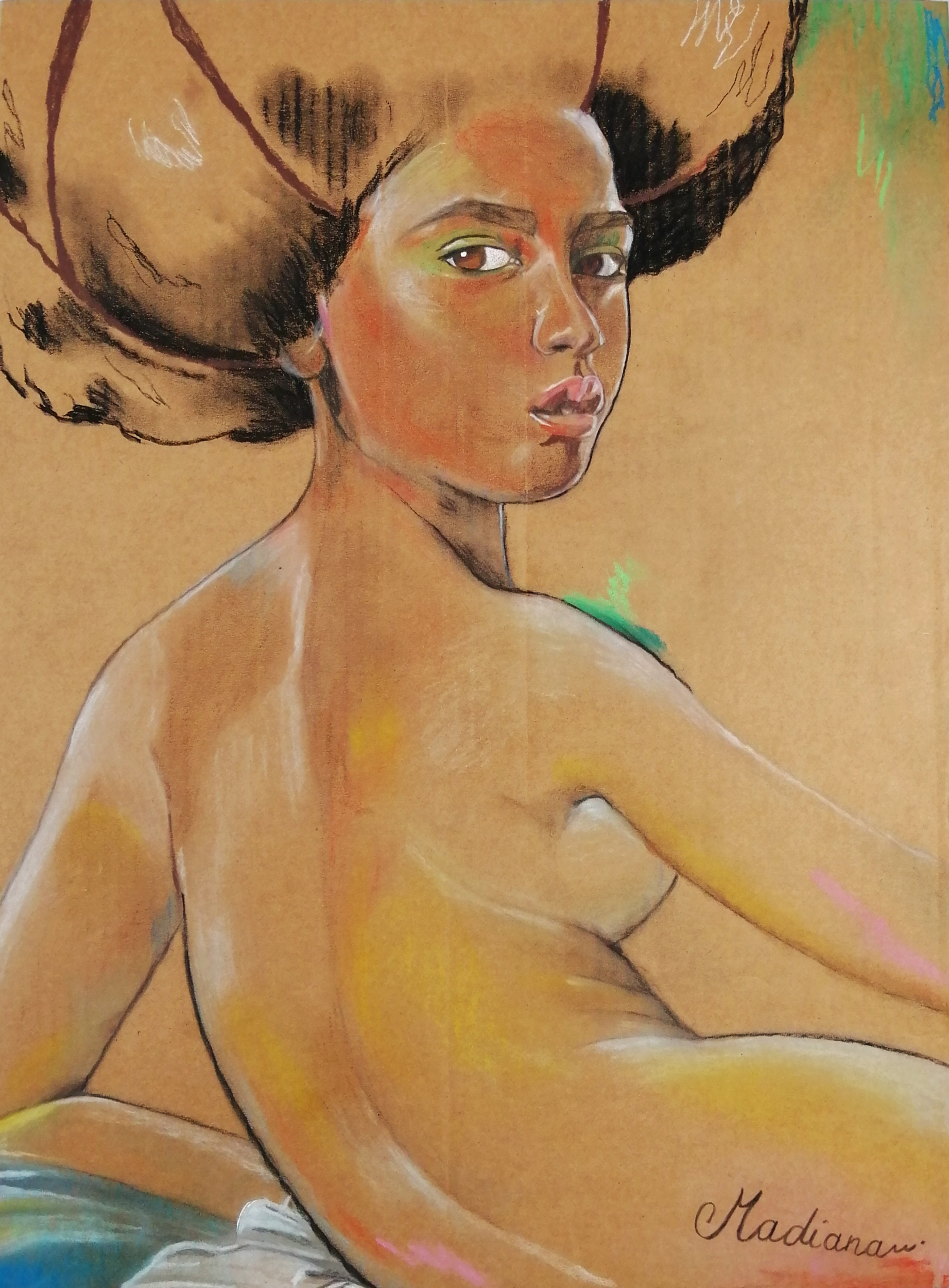 reproduction art poster woman africa after ingres